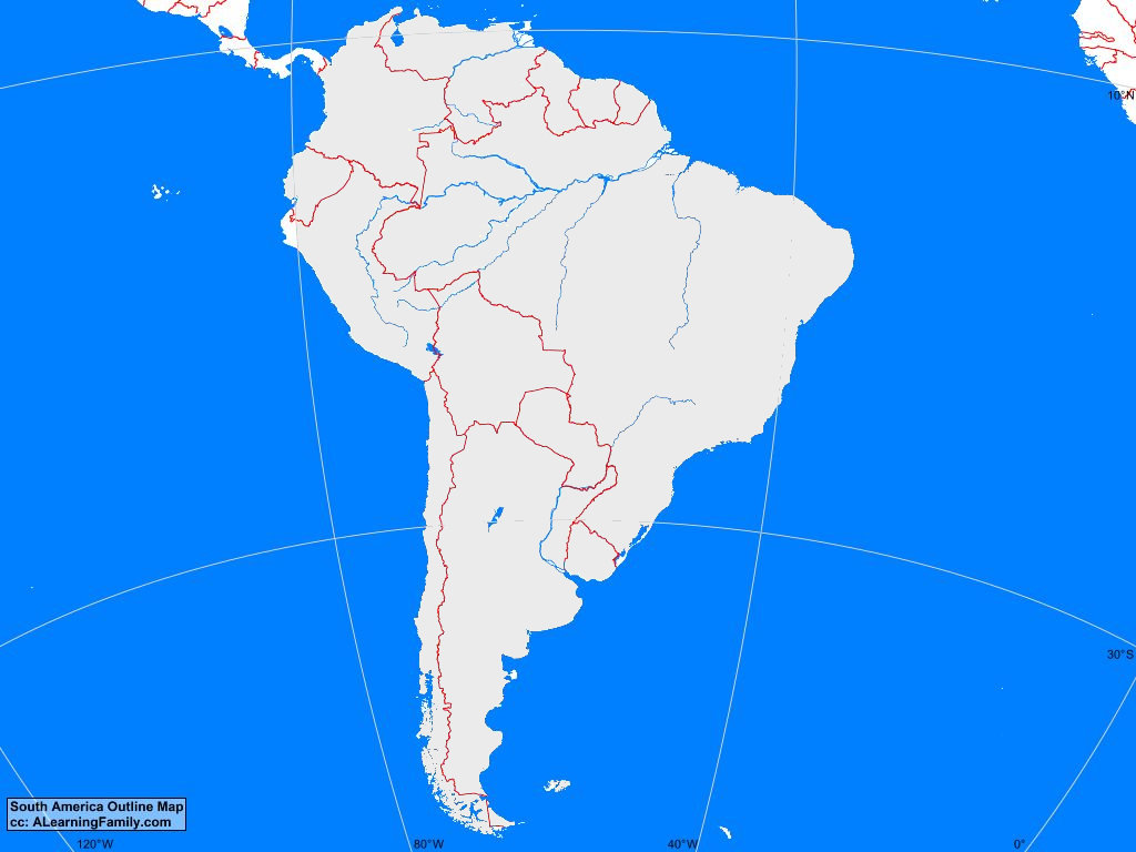 Picture of: South America Outline Map A Learning Family