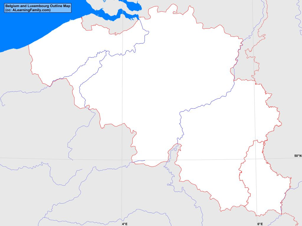 map of belgium and luxembourg Belgium And Luxembourg Outline Map A Learning Family map of belgium and luxembourg