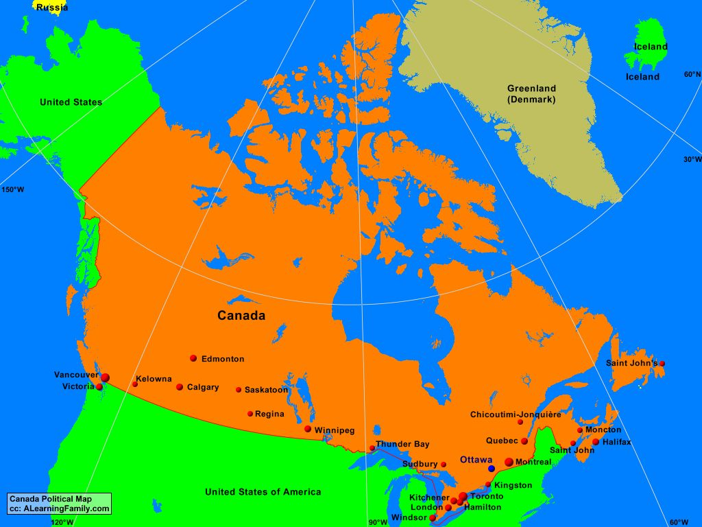 Picture of: Canada Political Map A Learning Family
