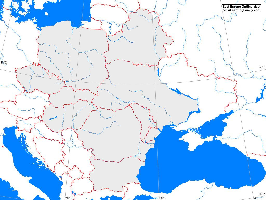 eastern europe blank map East Europe Outline Map A Learning Family eastern europe blank map