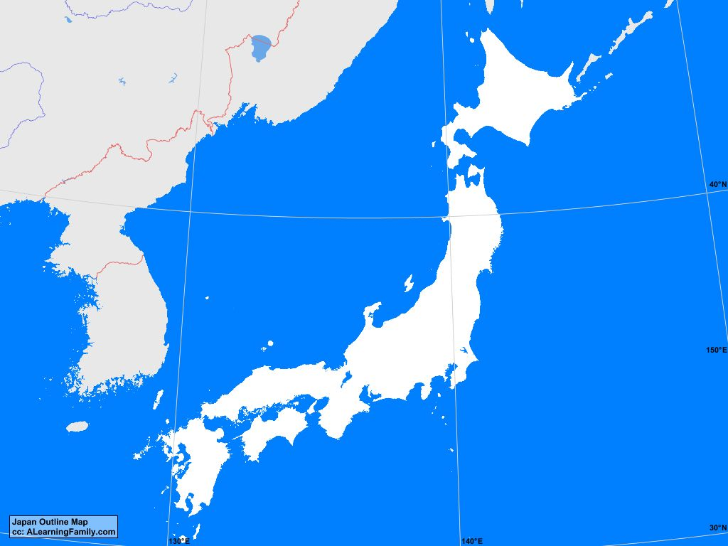 Picture of: Japan Outline Map A Learning Family