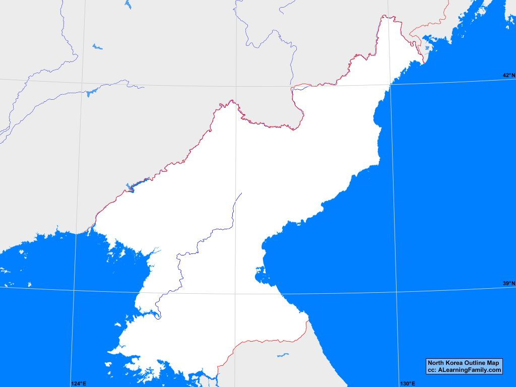 Picture of: North Korea Outline Map A Learning Family