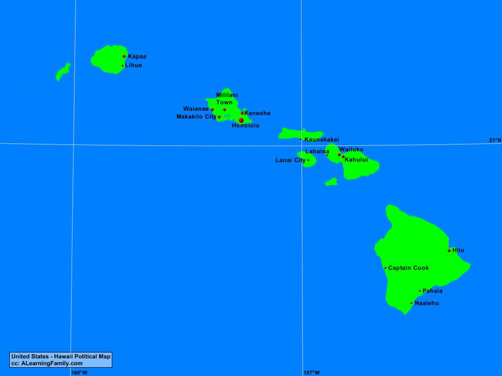 Picture of: Usa Hawaii Political Map A Learning Family